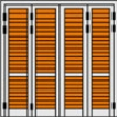 Τετράφυλλο Ανοιγόμενο Πατζούρι