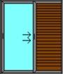 Μονόφυλλο Συρόμενο Τζάμι-Πατζούρι